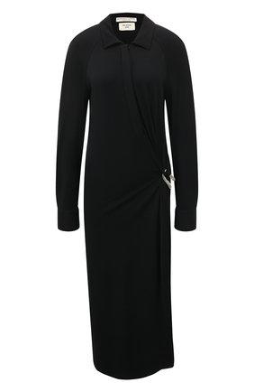 Женское платье из вискозы BOTTEGA VENETA черного цвета, арт. 609304/VKIJ0 | Фото 1
