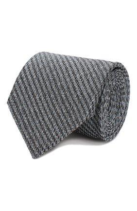 Мужской шелковый галстук ERMENEGILDO ZEGNA голубого цвета, арт. Z7D31/1L7 | Фото 1