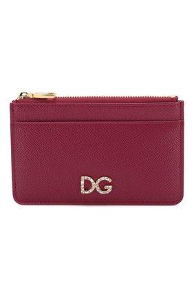 Женский кожаный футляр для кредитных карт DOLCE & GABBANA фуксия цвета, арт. BI1261/AU771 | Фото 1