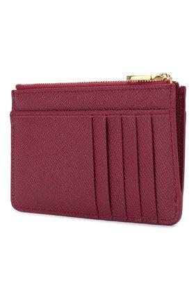 Женский кожаный футляр для кредитных карт DOLCE & GABBANA фуксия цвета, арт. BI1261/AU771 | Фото 2