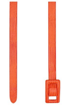 Женский кожаный ремень RALPH LAUREN оранжевого цвета, арт. 408800454 | Фото 2