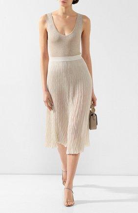 Женская юбка из вискозы MRZ бежевого цвета, арт. S20-0160 | Фото 2
