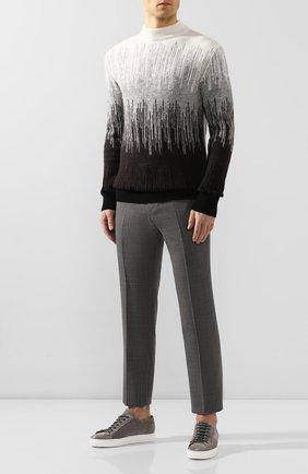 Мужские замшевые кеды DOUCAL'S серого цвета, арт. DU2335ERICUZ106IN22 | Фото 2