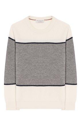 Детский кашемировый свитер BRUNELLO CUCINELLI разноцветного цвета, арт. B2215300A | Фото 1