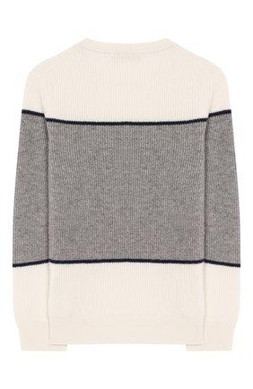 Детский кашемировый свитер BRUNELLO CUCINELLI разноцветного цвета, арт. B2215300A | Фото 2