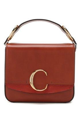 Женская сумка chloé с small  CHLOÉ коричневого цвета, арт. CHC19WS199A37 | Фото 1