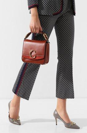 Женская сумка chloé с small  CHLOÉ коричневого цвета, арт. CHC19WS199A37   Фото 2