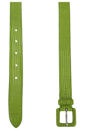 Женский кожаный ремень RALPH LAUREN зеленого цвета, арт. 408800455 | Фото 2