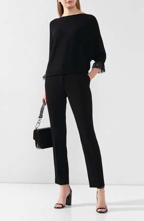 Пуловер из смеси шерсти и шелка   Фото №2
