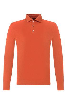 Мужское кашемировое поло LORO PIANA оранжевого цвета, арт. FAF8291 | Фото 1