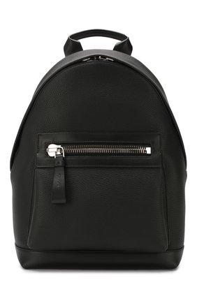 Мужской кожаный рюкзак TOM FORD черного цвета, арт. H0397P-LCL037 | Фото 1