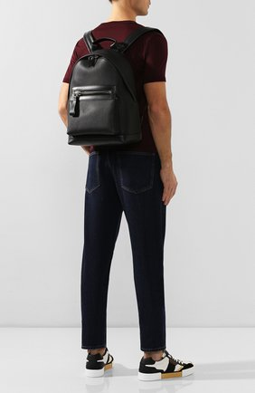 Мужской кожаный рюкзак TOM FORD черного цвета, арт. H0397P-LCL037 | Фото 2