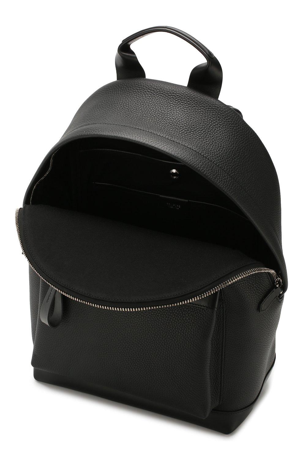 Мужской кожаный рюкзак TOM FORD черного цвета, арт. H0397P-LCL037 | Фото 4