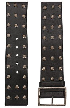 Женский кожаный ремень SAINT LAURENT черного цвета, арт. 592862/0IH1D | Фото 2