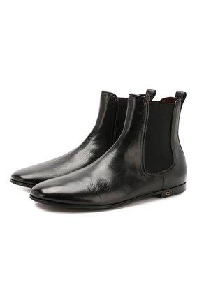 Мужские кожаные челси erice DOLCE & GABBANA черного цвета, арт. A60269/AX199 | Фото 1