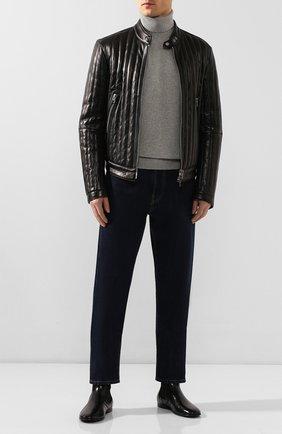 Мужские кожаные челси erice DOLCE & GABBANA черного цвета, арт. A60269/AX199 | Фото 2