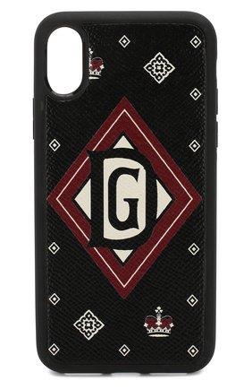 Мужской чехол для iphone x DOLCE & GABBANA черного цвета, арт. BP2408/AK443 | Фото 1