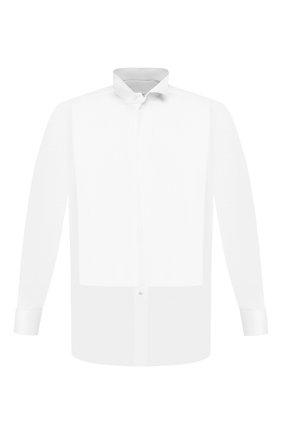 Мужская хлопковая сорочка BRIONI белого цвета, арт. RCSU1K/0Z022 | Фото 1