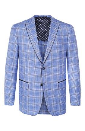 Мужской пиджак из смеси шелка и кашемира ZILLI голубого цвета, арт. MNT-SG2Y-2-C6230/M611 | Фото 1