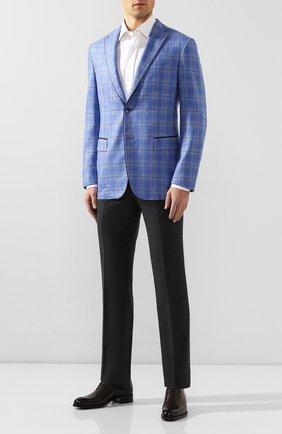 Мужской пиджак из смеси шелка и кашемира ZILLI голубого цвета, арт. MNT-SG2Y-2-C6230/M611 | Фото 2