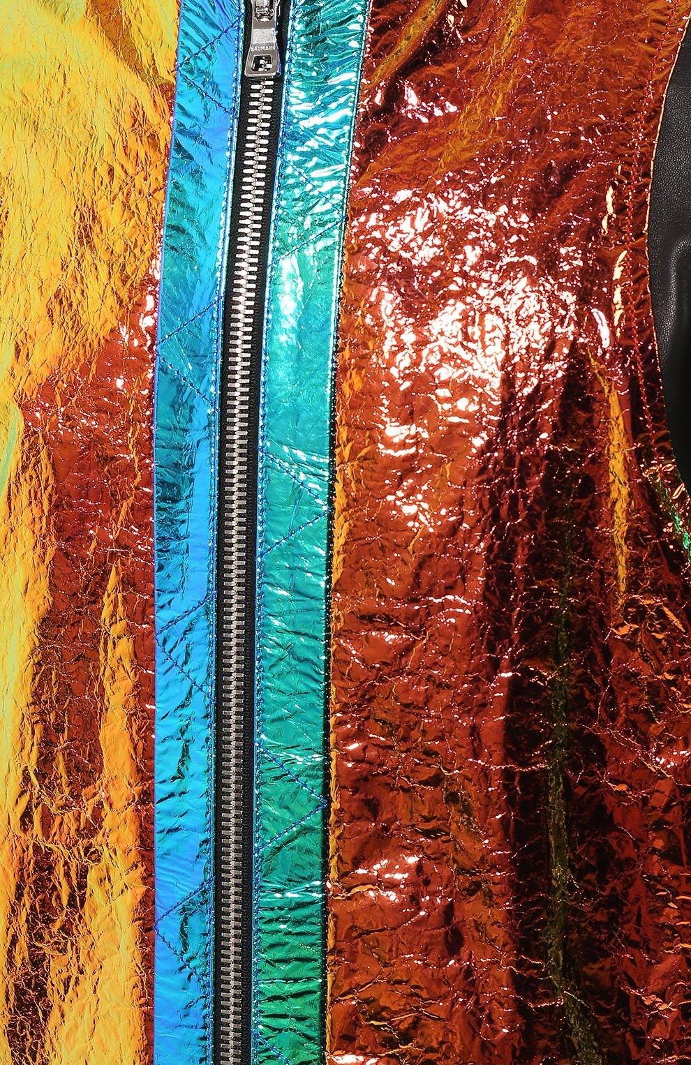 Мужской кожаный бомбер BALMAIN разноцветного цвета, арт. TH08680/Z361 | Фото 5