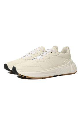 Мужские кожаные кроссовки BOTTEGA VENETA белого цвета, арт. 565646/VT040 | Фото 1