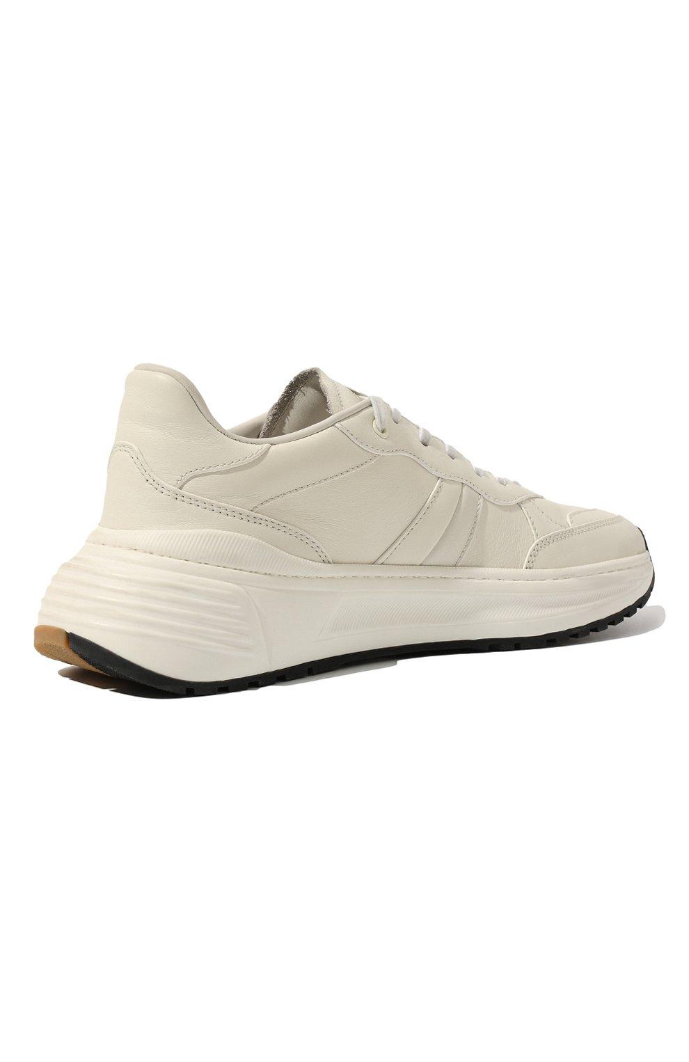 Мужские кожаные кроссовки BOTTEGA VENETA белого цвета, арт. 565646/VT040 | Фото 5