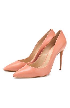 Женская кожаные туфли julia CASADEI розового цвета, арт. 1F121D1001MIN0R3404 | Фото 1