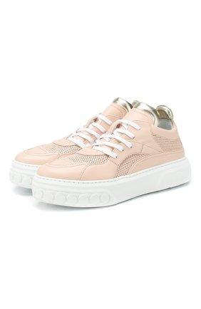 Женские кожаные кеды CASADEI розового цвета, арт. 2X818P0201T0127A532 | Фото 1