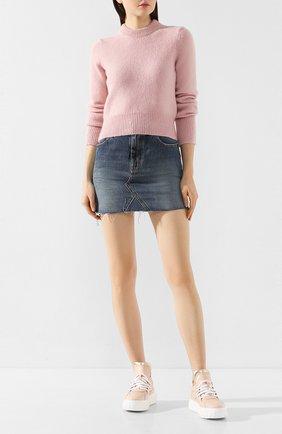 Женские кожаные кеды CASADEI розового цвета, арт. 2X818P0201T0127A532 | Фото 2