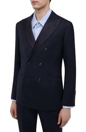 Мужской шерстяной смокинг BRUNELLO CUCINELLI темно-синего цвета, арт. MF460AS22B | Фото 2