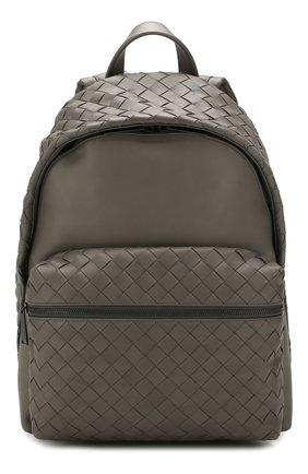 Мужской кожаный рюкзак BOTTEGA VENETA серого цвета, арт. 599634/VCPQ2 | Фото 1