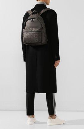 Мужской кожаный рюкзак BOTTEGA VENETA серого цвета, арт. 599634/VCPQ2 | Фото 2