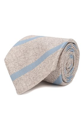 Мужской шелковый галстук KITON бежевого цвета, арт. UCRVKLC03G53 | Фото 1