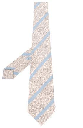 Мужской шелковый галстук KITON бежевого цвета, арт. UCRVKLC03G53 | Фото 2