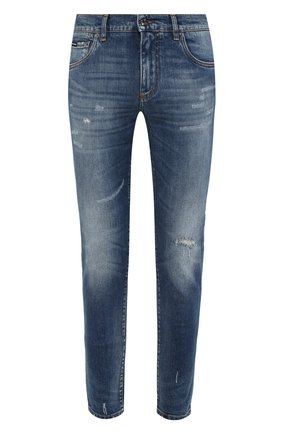 Мужские джинсы DOLCE & GABBANA голубого цвета, арт. GW0ELZ/G8BZ0   Фото 1