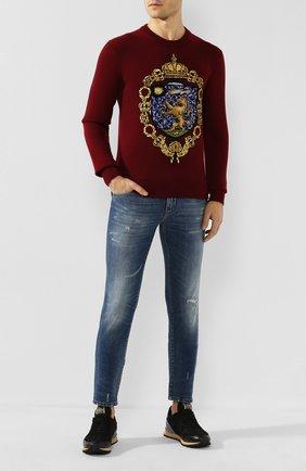 Мужские джинсы DOLCE & GABBANA голубого цвета, арт. GW0ELZ/G8BZ0   Фото 2