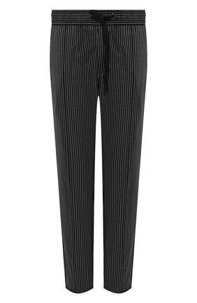 Мужские шерстяные брюки DOLCE & GABBANA черного цвета, арт. GYACET/FRBCM   Фото 1