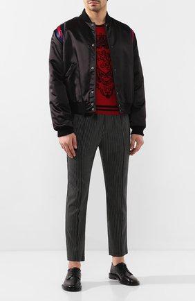 Мужские шерстяные брюки DOLCE & GABBANA черного цвета, арт. GYACET/FRBCM   Фото 2