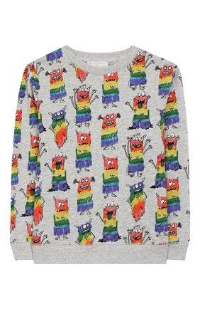 Детский хлопковый пуловер STELLA MCCARTNEY разноцветного цвета, арт. 588440/S0J24   Фото 1