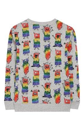 Детский хлопковый пуловер STELLA MCCARTNEY разноцветного цвета, арт. 588440/S0J24   Фото 2