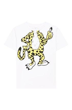 Детская хлопковая футболка STELLA MCCARTNEY белого цвета, арт. 588483/S0J66 | Фото 1