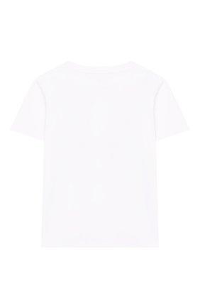 Детская хлопковая футболка STELLA MCCARTNEY белого цвета, арт. 588483/S0J66 | Фото 2
