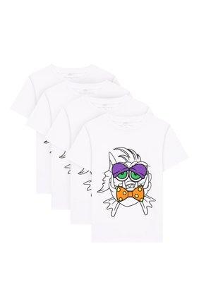 Детская футболка со сменными аппликациями STELLA MCCARTNEY белого цвета, арт. 588484/S0J67 | Фото 1