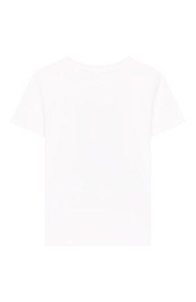 Детская хлопковая футболка STELLA MCCARTNEY белого цвета, арт. 588484/S0J98 | Фото 2
