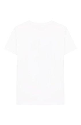 Детская хлопковая футболка STELLA MCCARTNEY белого цвета, арт. 588484/S0J99 | Фото 2