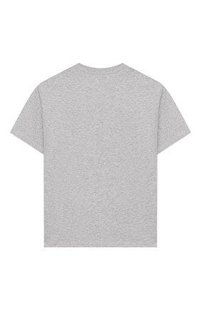Детская хлопковая футболка STELLA MCCARTNEY серого цвета, арт. 588492/S0JA2 | Фото 2