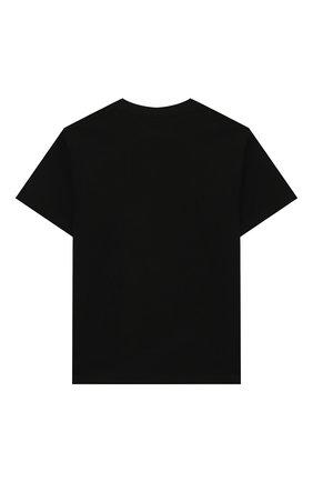 Детская хлопковая футболка STELLA MCCARTNEY черного цвета, арт. 588492/S0JF9 | Фото 2