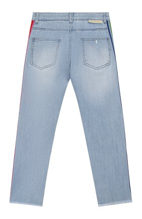 Детские джинсы STELLA MCCARTNEY голубого цвета, арт. 588591/S0K79   Фото 2