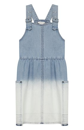 Детское джинсовый сарафан STELLA MCCARTNEY голубого цвета, арт. 588706/S0K57 | Фото 1